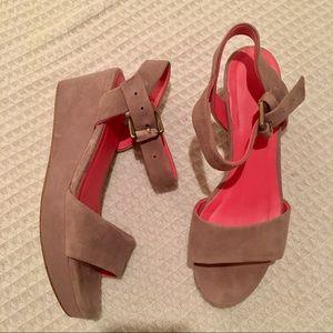 Boden suede platform sandals size 36